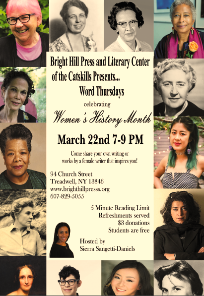 SPECIAL WOMEN'S HISTORY MONTH WORD THURSDAYS READING: MARCH 22, 7 PM